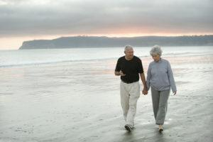 old couple on the beach